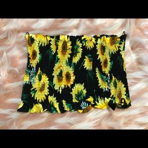 Plus size sunflower tube top !